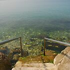 Steps Leading Down into Water by jojobob