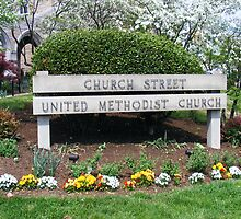 Church Street United Methodist Church sign by raindancerwoman