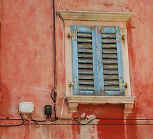 Tatty Blue Shutters in Piran by jojobob
