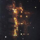 Nightlights 1 (City Road Traffic), oil on canvas, 128 x 96 cm, 2006 by Franko Camue