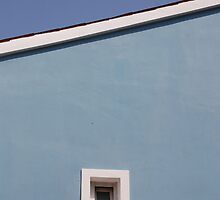 Window in Blue Wall by jojobob