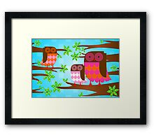 OWL WE THERE YET? Framed Print
