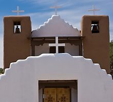San Geronimo Church, Taos Pueblo, New Mexico by Tomas Abreu
