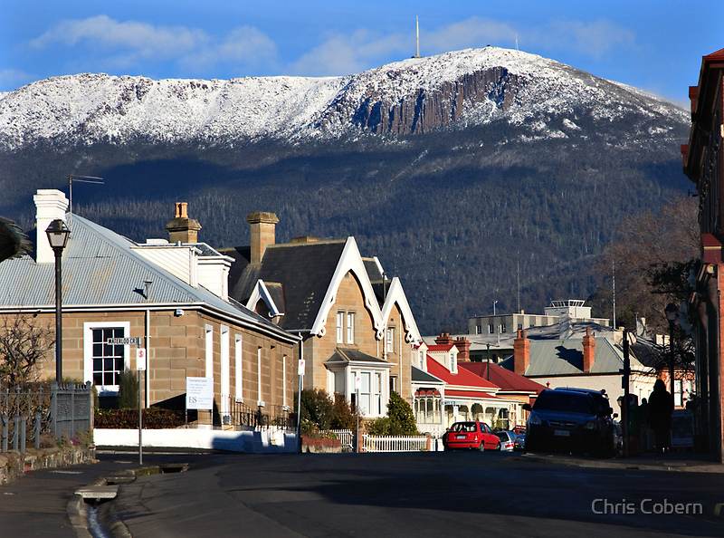 Mount Wellington in snow by Chris Cobern