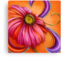 The Paisley Gerbera by Alma Lee Canvas Print