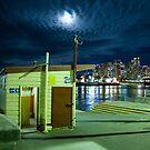 Balmain wharf by night by Alex Howen