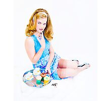Shh Cup Cake Grrl  Photographic Print