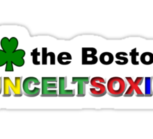 I Love Boston Sports (green shamrock) Sticker