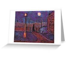 Moonlight over the park Greeting Card