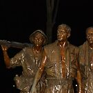 Vietnam Memorial at Night by VanillaDolphin