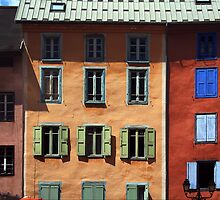 coloured walls in France by alixlune