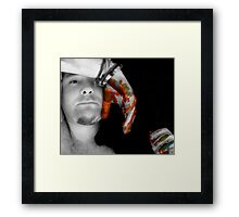 Painted Hands Framed Print