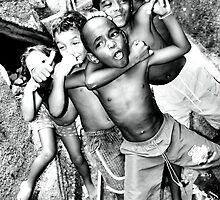Can you feel it! Rocinha Children, Rio de Janeiro Brazil 2009 by Tash  Menon