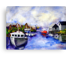 Peggy's Cove Coming In Canvas Print
