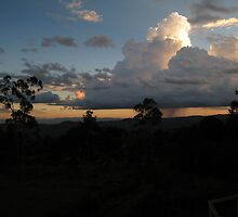 raincloud and sunset near moshi by mzungu