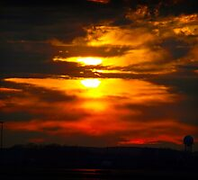 Sunset at the Airport by Moxy