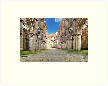 Abbey of Saint Galgano - The Nave and the Aisles - San Galgano by paolo1955