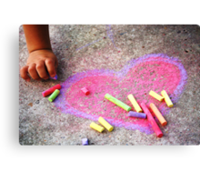 Expression of a Childs Love Canvas Print