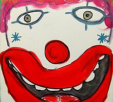 My Happy Clown by Zoe Thomas Age 7 by Julia  Thomas
