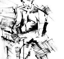 Braque Drummer 1  by LAUREN ROBERTS