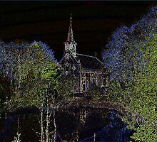 Church in Neonlights by ienemien