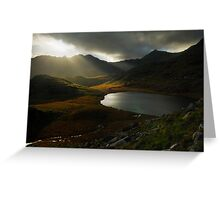 Sunrays, Snowdonia National Park Greeting Card