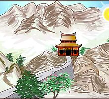 chinese painting on adobe flash by tarabas57