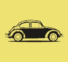 VW 1961 Beetle Shirt - Black by melodyart