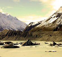 Tasman Glacier by Rebecca Robertson