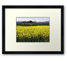Yellow dance of Nature - Limavady County Derry Ireland Framed Print