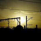Railyard Sunset by Richard Hill