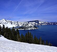 Crater lake by Jeannie Peters
