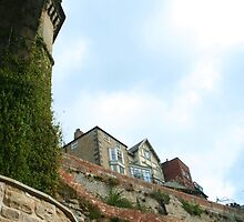 Houses on the Cliff, Knaresborough England by Mishimoto