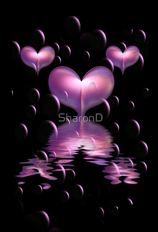 Quot Purple Hearts And Bubbles Quot By Sharond Redbubble