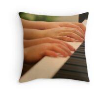 Piano Duet Throw Pillow