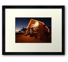 """The Old Pearler at Dusk"" Shark Bay, Western Australia Framed Print"