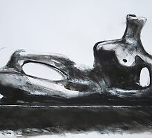 Study From Henry Moores-Relining Figure 1959 by Josh Bowe