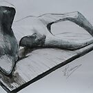 Study From Henry Moores-Thin Reclining Figure 1979-80 by Josh Bowe