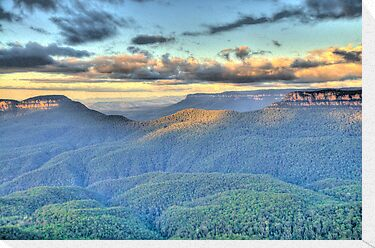 Morning Light - Blue Mountains World Heritage Area - The HDR Experience by Philip Johnson