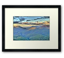 Morning Light - Blue Mountains World Heritage Area - The HDR Experience Framed Print