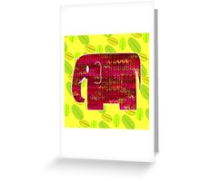 knitty elephant Greeting Card