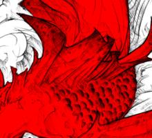 Koi | red Sticker