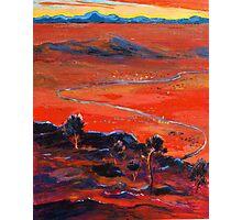 The Living Desert sunset Broken Hill  Sunset  Photographic Print