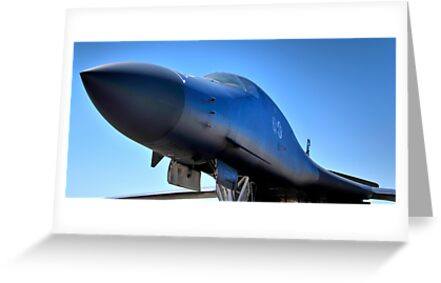 BOEING B1-B LANCER AIR FORCE BOMBER  by Duane Salstrand