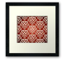 Decorativ floral ornament Framed Print