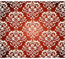 Decorativ floral ornament Photographic Print