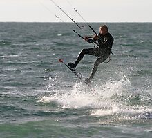 Kite Surfer 2 by Paul Davey