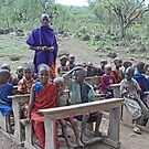 The Maasai School, Tanzania, Africa by Adrian Paul