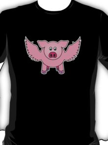 """Bobby the pig says: """"every cloud..."""" T-Shirt"""