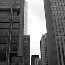 Downtown- B&W by Tracy Faught